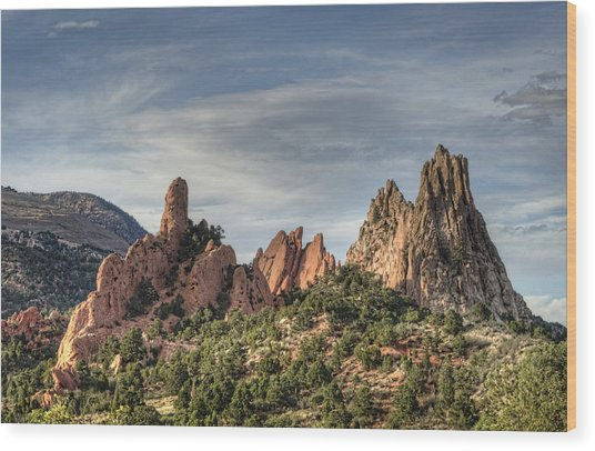 Garden Of The Gods 1 Wood Print by Jim Pearson