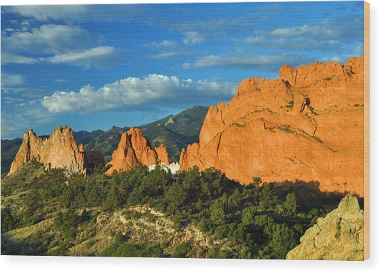 Garden Of The Gods Front Side View Wood Print by Gene Sherrill