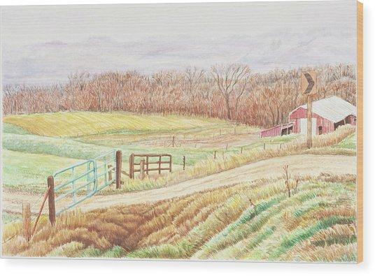 Gateway To Springwater Wood Print by David Bratzel