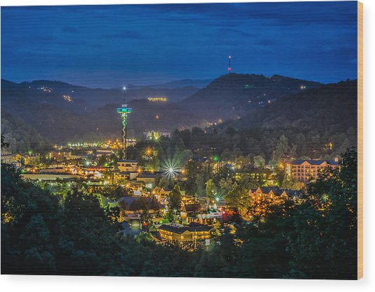 Gatlinburg And The Smokey Mountains Wood Print by Brian Young