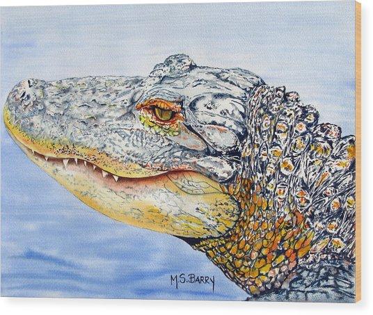 gator Alice Wood Print
