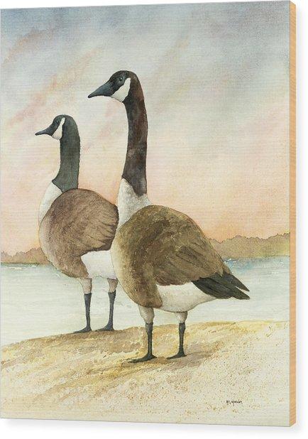 Geese 52012 Wood Print