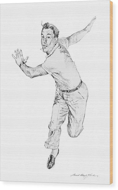 Gene Kelly Wood Print by David Lloyd Glover