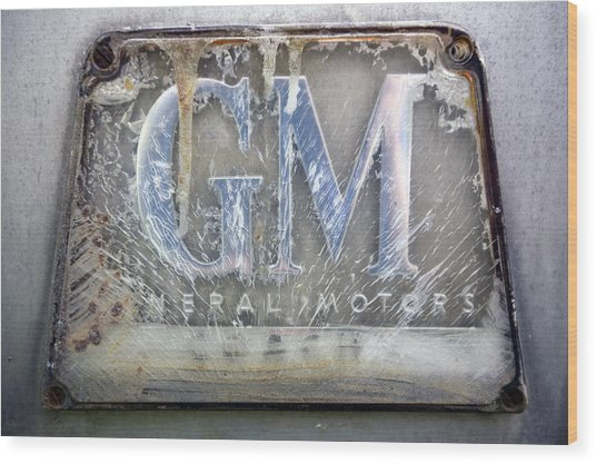 General Motors Wood Print by Luc Novovitch