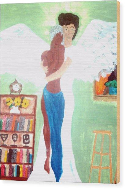 Genesis 6 1 Wood Print by Violette L Meier