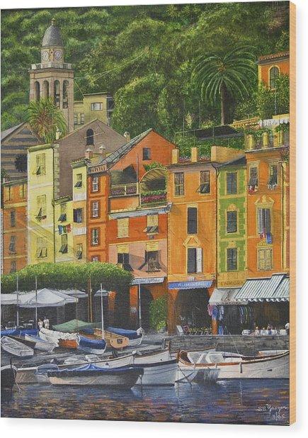 Genoa Marina Wood Print