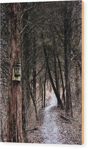 Gently Into The Forest My Friend Wood Print