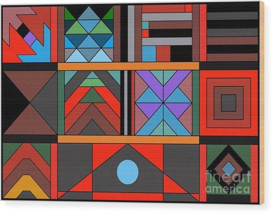Geometric 2 Wood Print