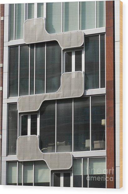 Geometric Windows Wood Print