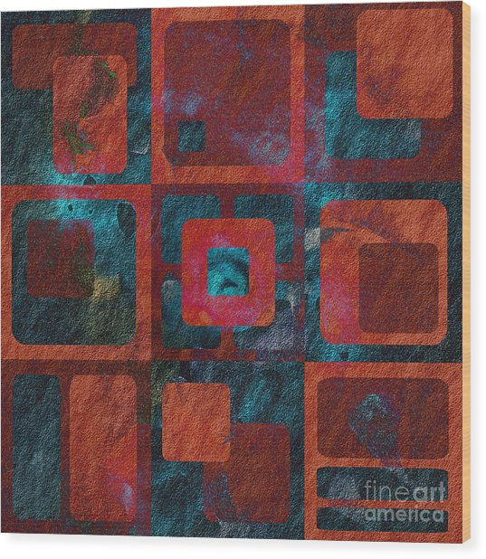 Geomix 02 - Sp07c03b Wood Print
