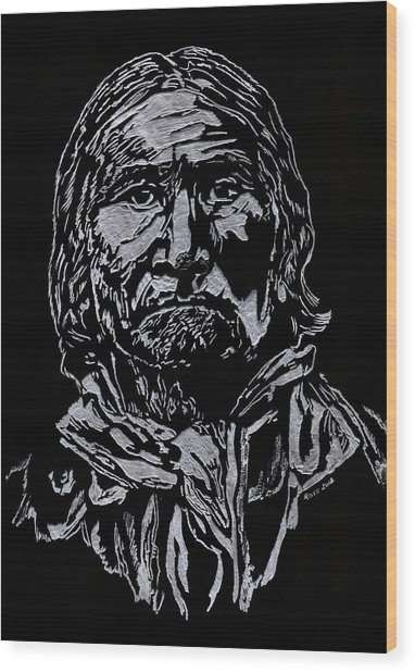 Geronimo Wood Print by Jim Ross
