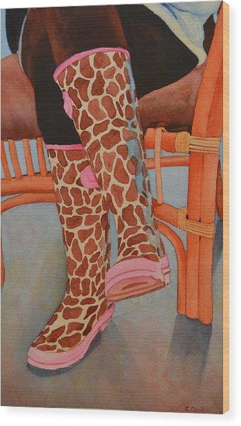 Gerry Afe Wood Print by Cynthia Sexton