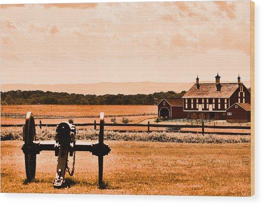 Gettysburg Color Wood Print by Justin Mac Intyre