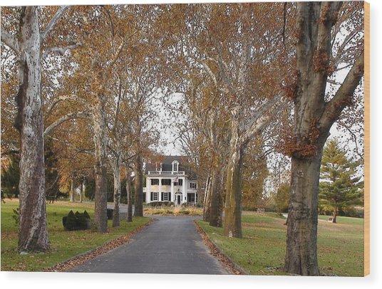Gettysburg Historic Home Wood Print