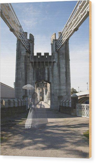 Ghost Bridge Wood Print