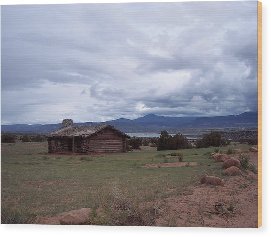 Ghost Ranch Vista Wood Print