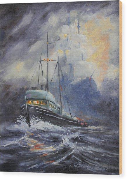 Ghosts Of The Seas Wood Print
