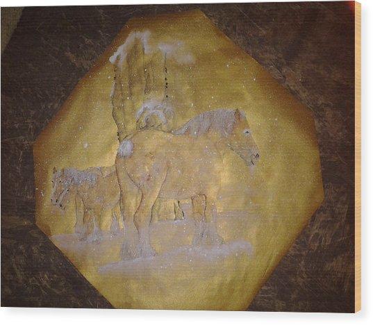 gilded Brabant Wood Print by Debbi Saccomanno Chan