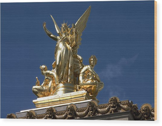 Gilded Statues On Paris Opera House Photograph By Carl Purcell