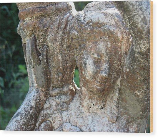 Girl Carrying Jug Wood Print