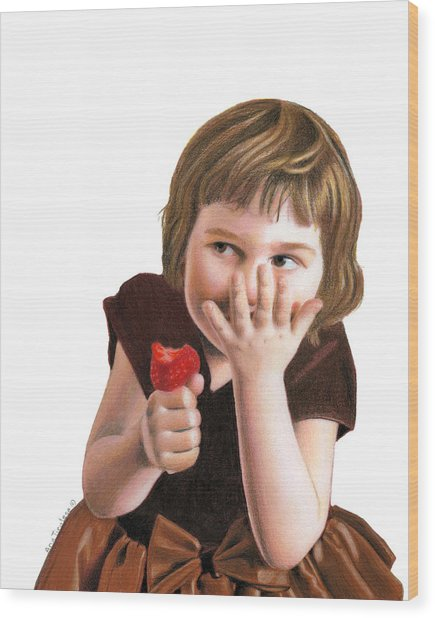 Girlish Giggles Wood Print