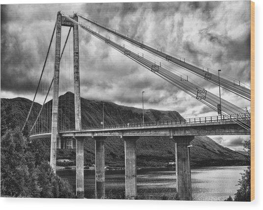 Gjemnessund Bridge Wood Print
