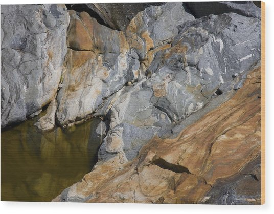 Glacial Pothole Wood Print