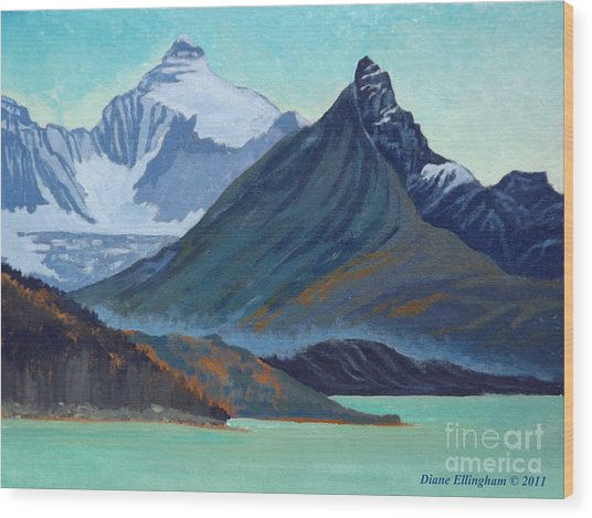 Glacial Retreat Canadian Rockies Wood Print