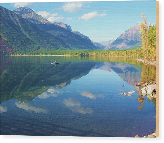 Glacier Park Magic Wood Print