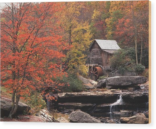 Glade Creek Grist Mill    Horizontal Wood Print