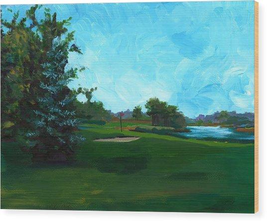 Glen Eagle Golf Course Wood Print