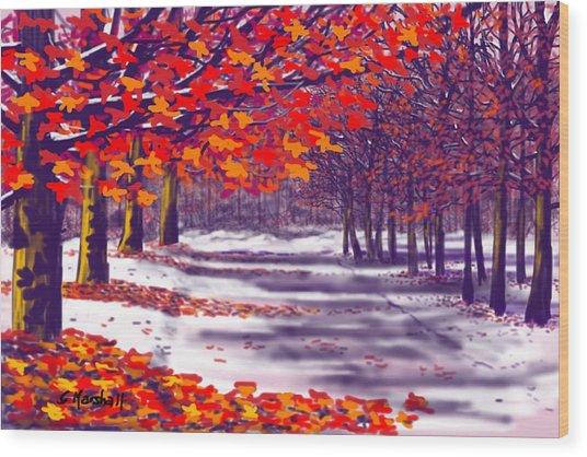 Glory Of Autumn Wood Print