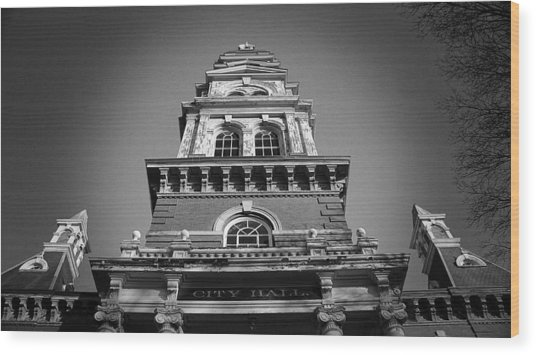 Gloucester City Hall Wood Print by Matthew Green