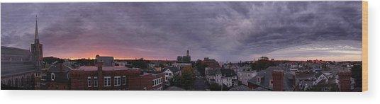 Gloucester Sunrise Panorama Wood Print by Matthew Green
