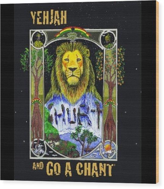 Go A Chant Cover Desing #arte#art Wood Print
