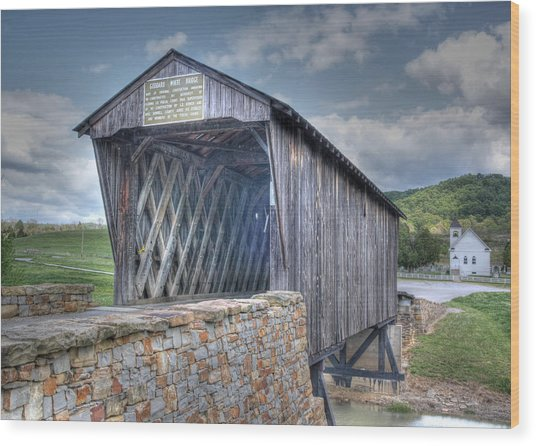 Goddard Covered Bridge Wood Print