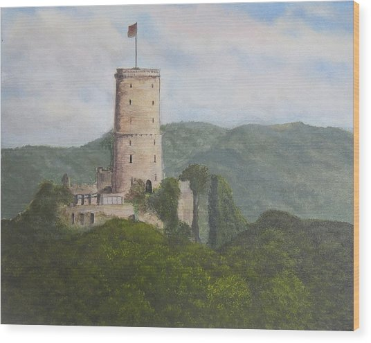 Godesburg Castle Wood Print by Heather Matthews
