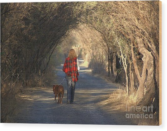 Going For A Walk  The Photograph Wood Print