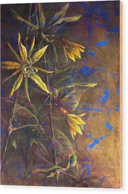 Gold Passions Wood Print