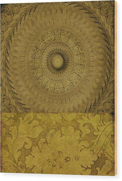 Gold Wheel I Wood Print by Ricki Mountain