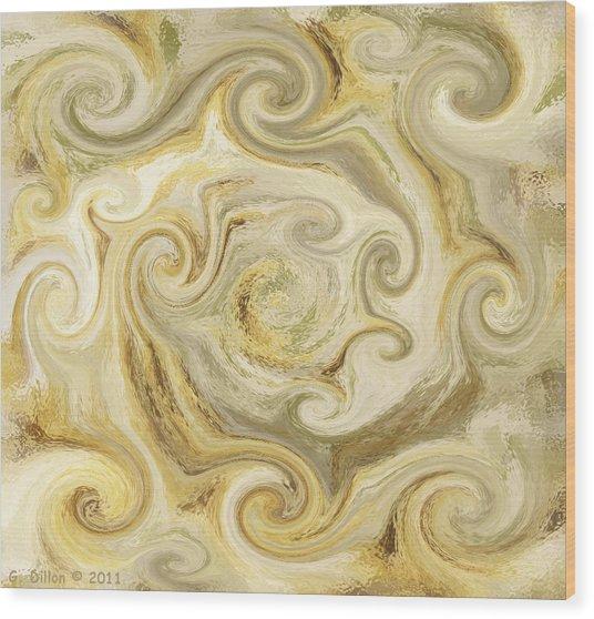 Golden Blend Wood Print
