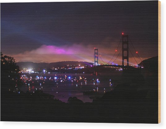 Golden Gate 75th Anniversary 1 Wood Print