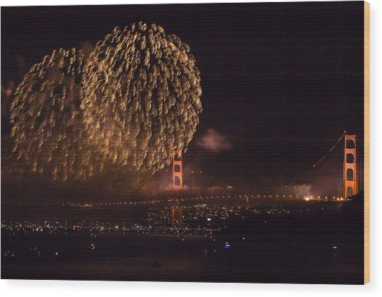Golden Gate 75th Fireworks 35 Wood Print
