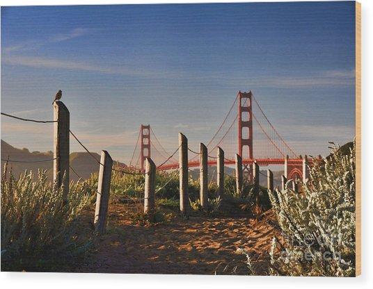 Golden Gate Bridge - 2 Wood Print