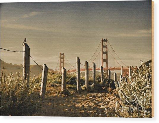 Golden Gate Bridge - 3 Wood Print