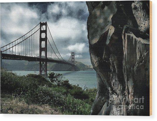 Golden Gate Bridge - 4 Wood Print