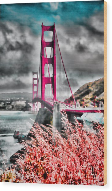 Golden Gate Bridge - 5 Wood Print