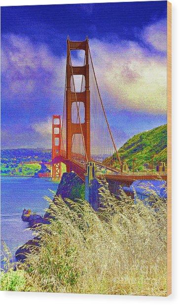 Golden Gate Bridge - 6 Wood Print