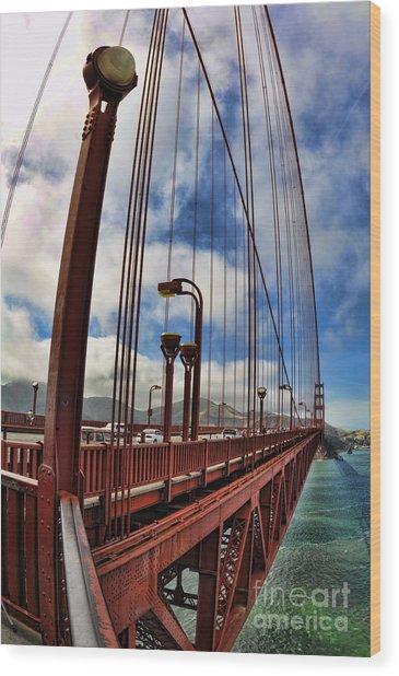Golden Gate Bridge - 7 Wood Print