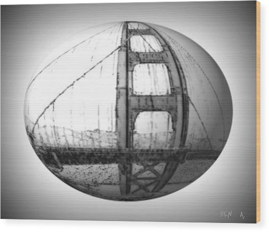 Golden Gate S.f. Wood Print by Rene Avalos